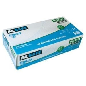 M-Safe Disposable nitril handschoen 4520 blauw