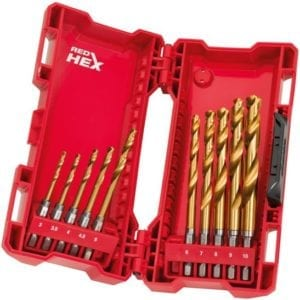 METAALBOOR SHOCKWAVE HSS-G TIN RED HEX